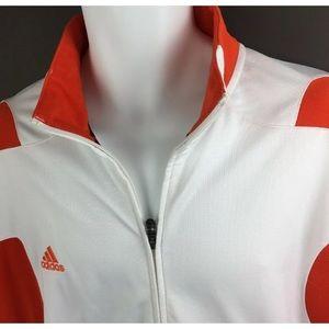 Adidas Scorch Jacket 2XL Orange Zip Track Jacket